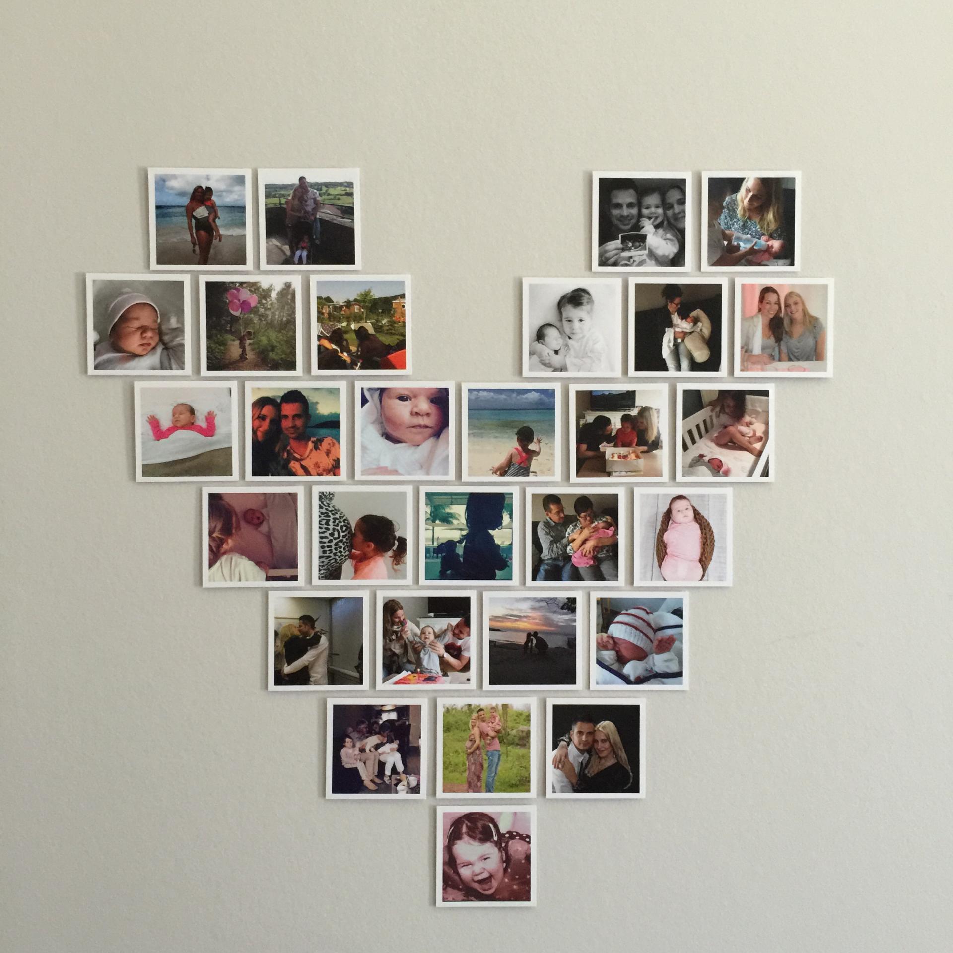 Hier lees je hoe je een fotocollage kunt maken in de vorm van een hart