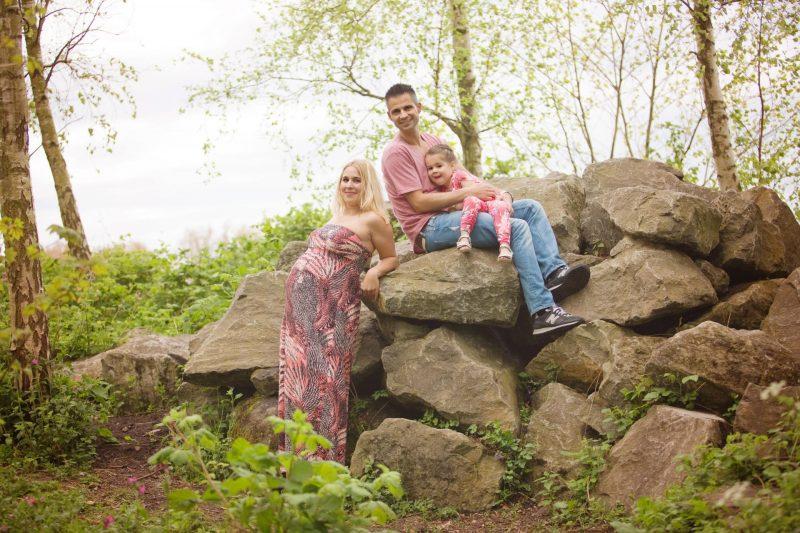 Afbeelding: foto van mij en chris samen met Chloë tijdens de zwangerschap