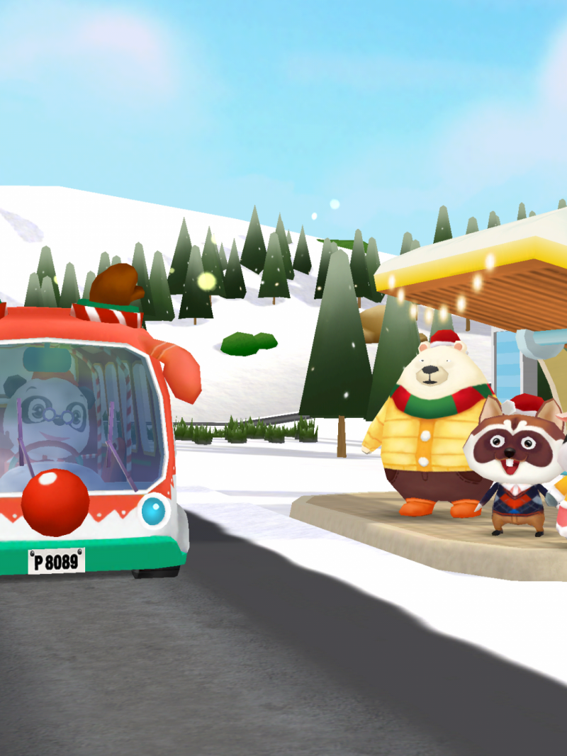 Screenshot Dr Panda Kerstbus/ Xmass bus app