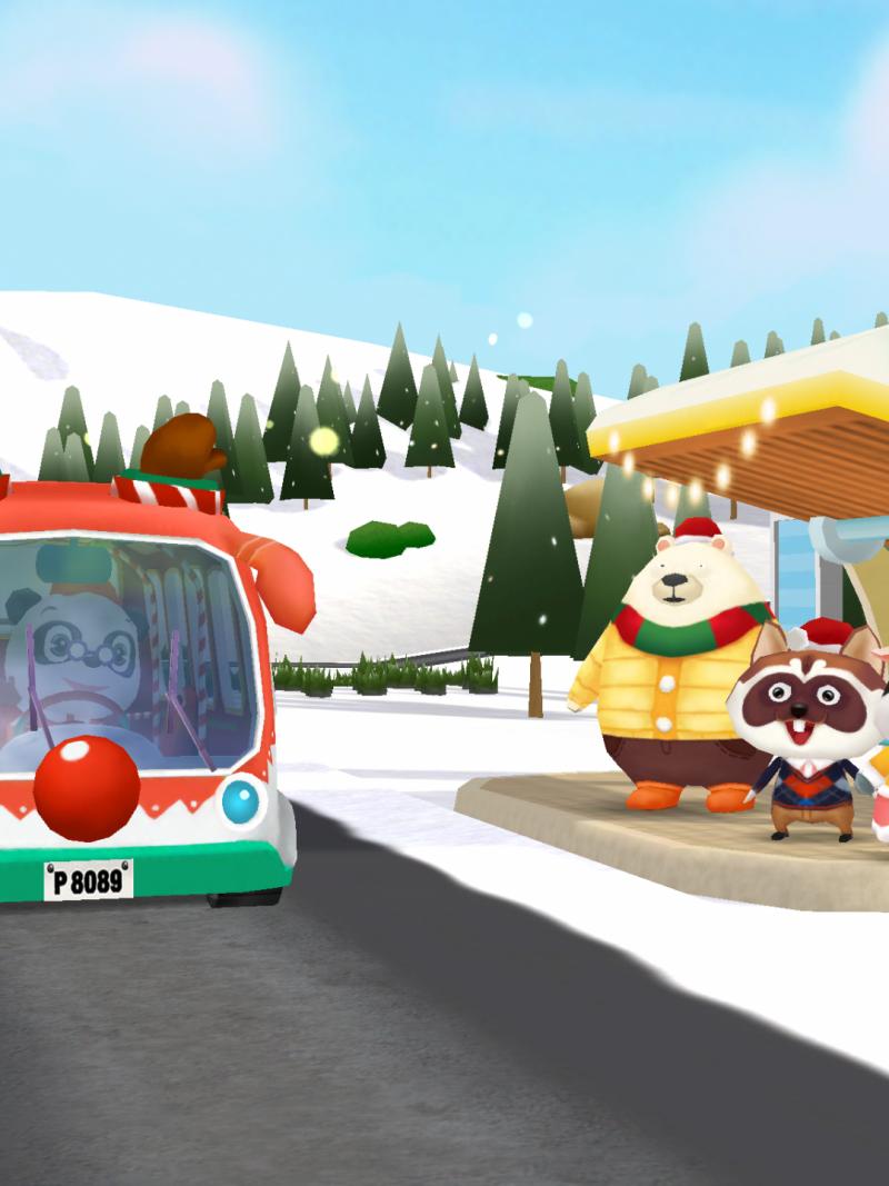 Screenshot Dr Panda Kerstbus/ Xmass bus app