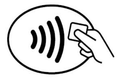 icoon contactloos mobiel betalen