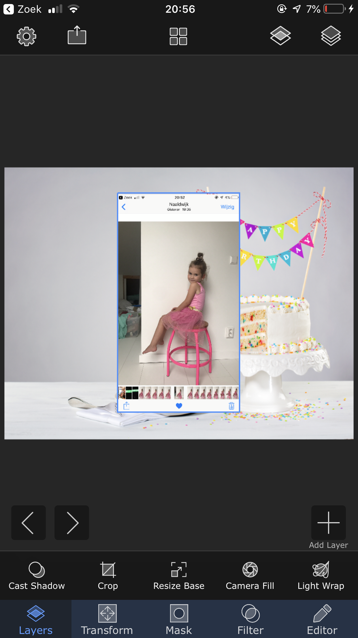how to add layers in superimpose