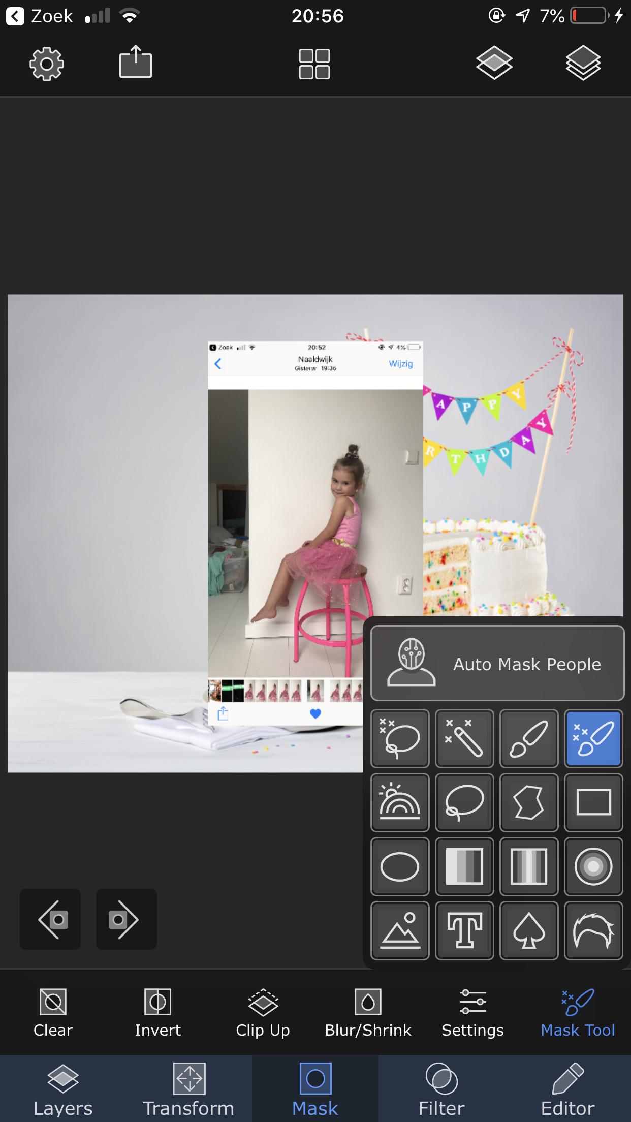 Superimpose smart brush