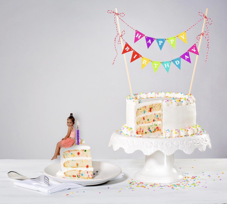 Het eindresultaat van de tutorial birthdaycake superimpose