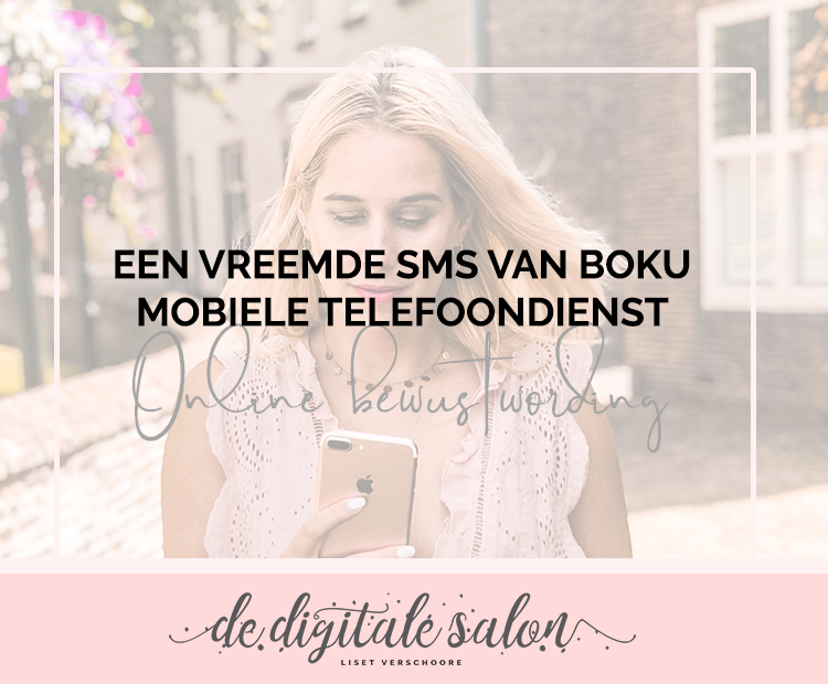 Een vreemde sms van Boku mobiele telefoondienst