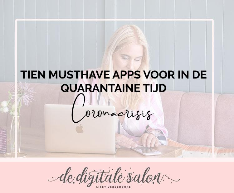 tien musthave apps voor in quarantaine